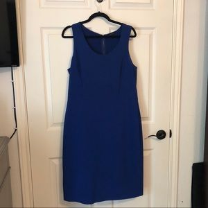 Ann Taylor blue fitted dress